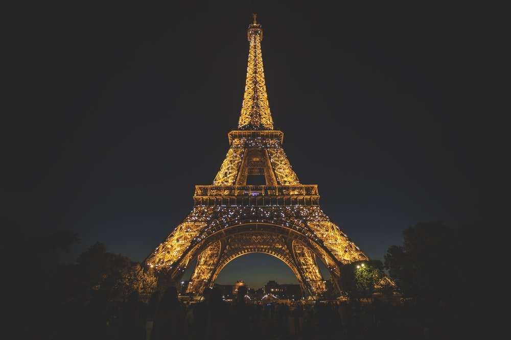 Sightseeing in Paris - Eiffel Tower at night