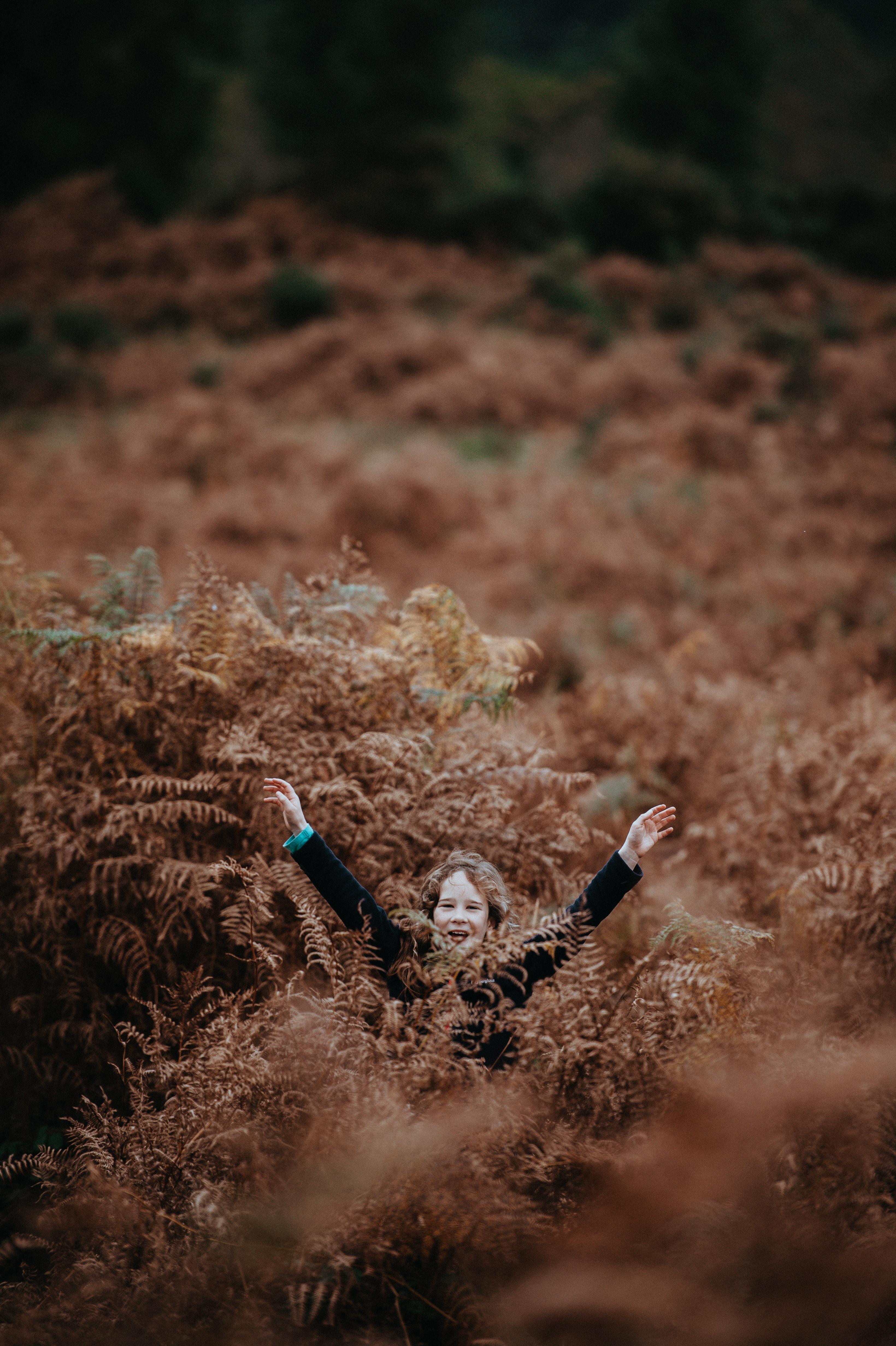 girl on grass area