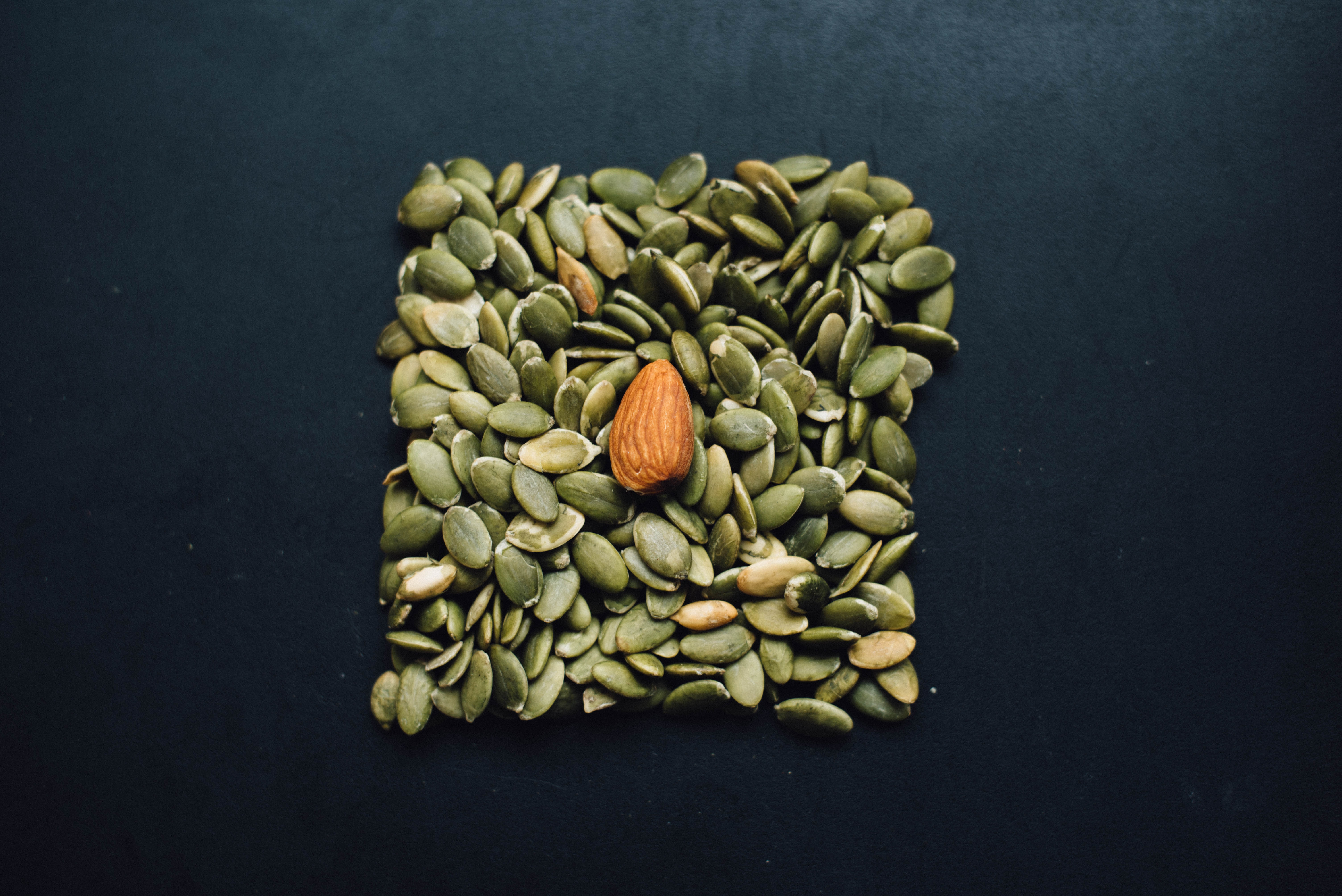 brown almond nut