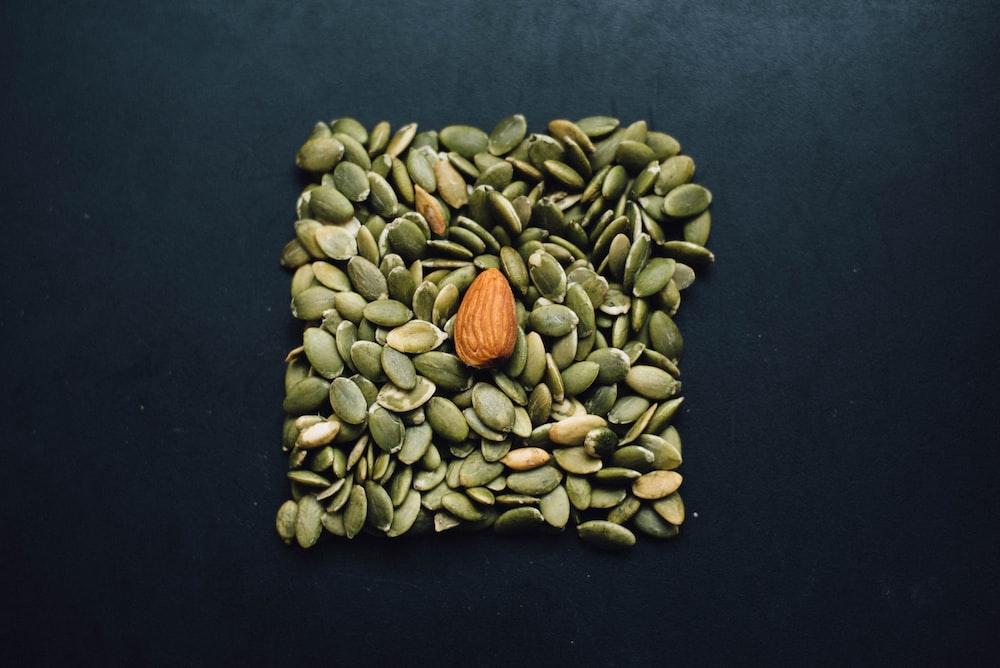 brown almond nut