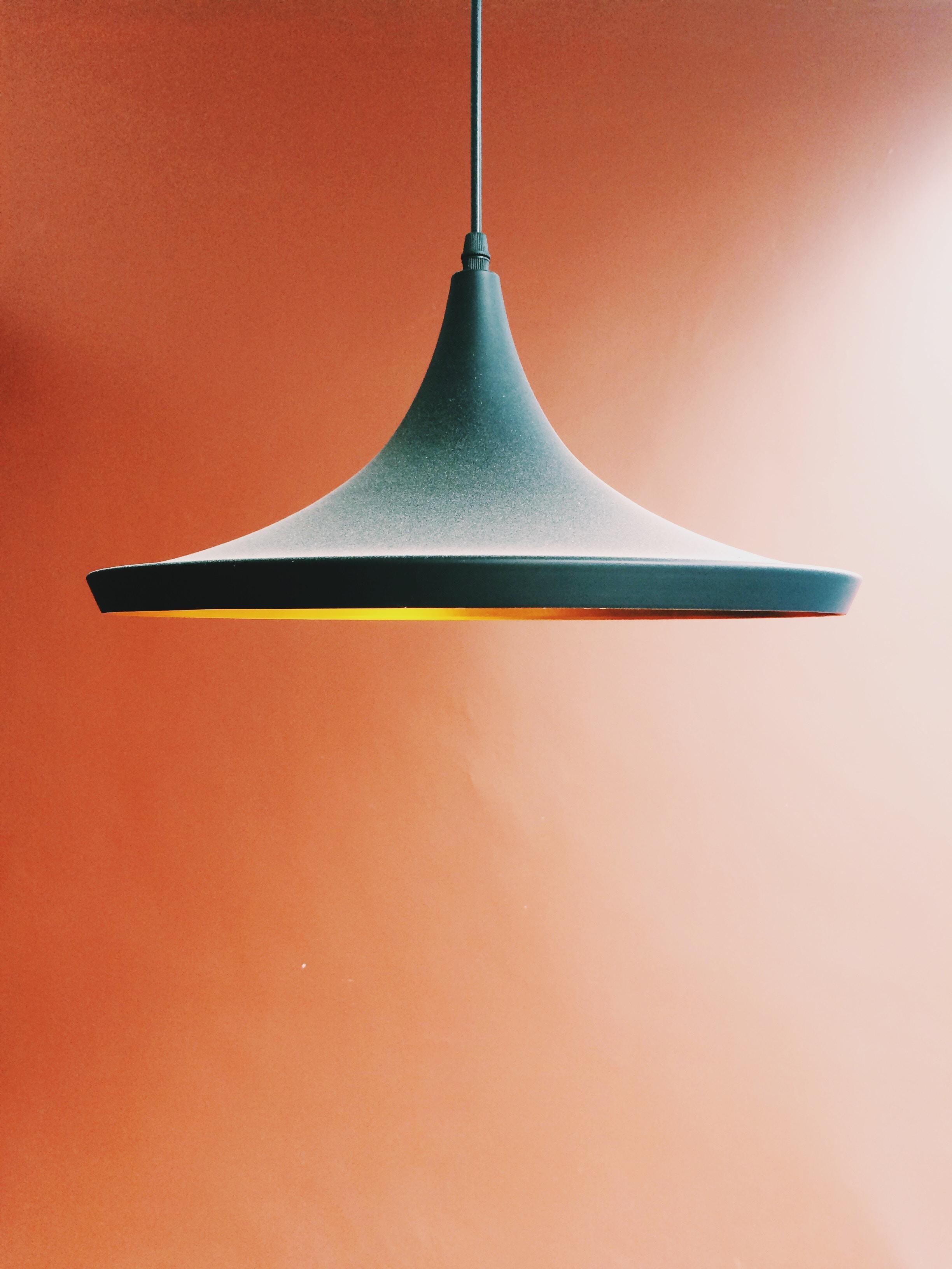 pendant lamp in orange background