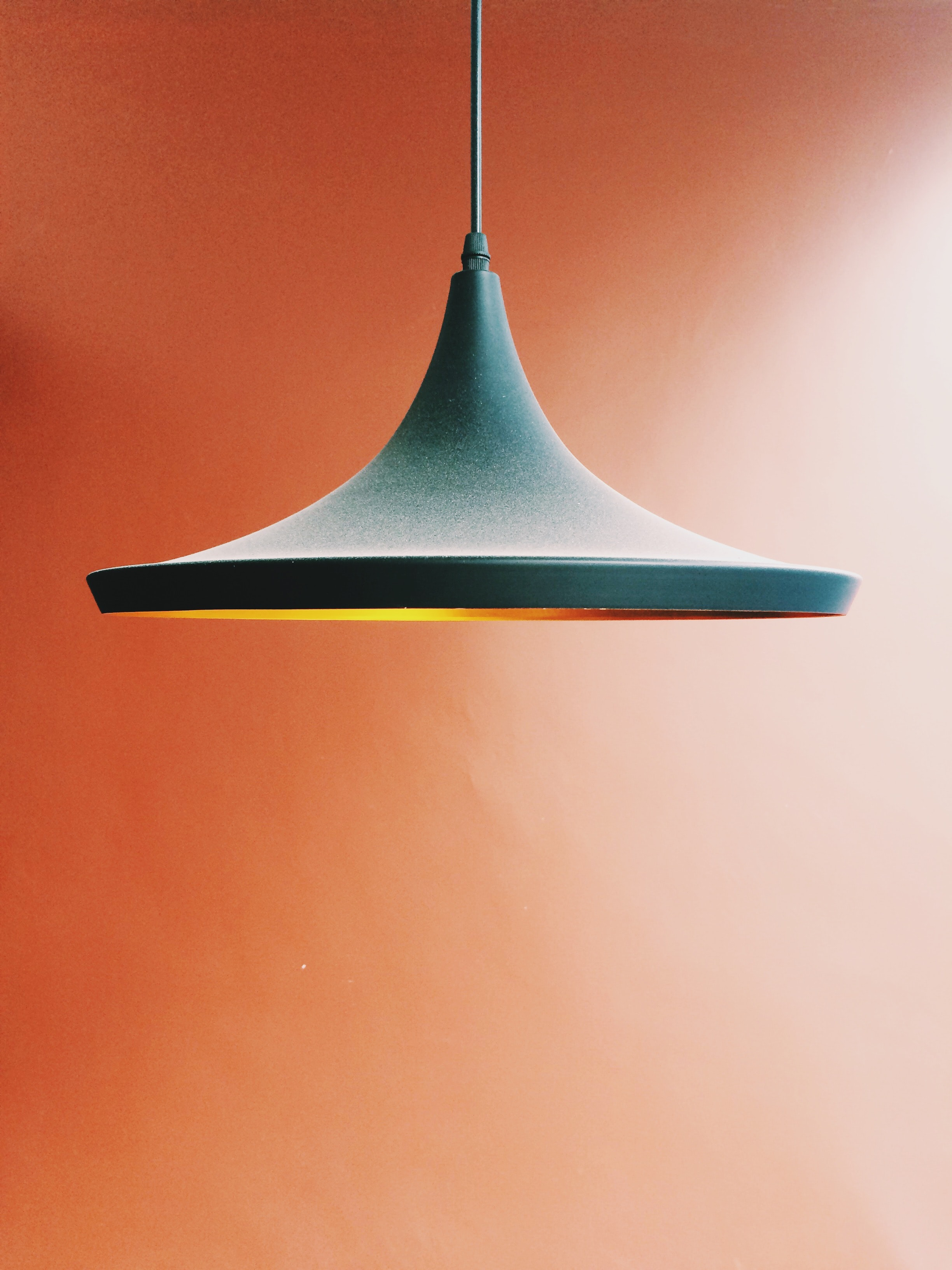pendant lamp in orange background