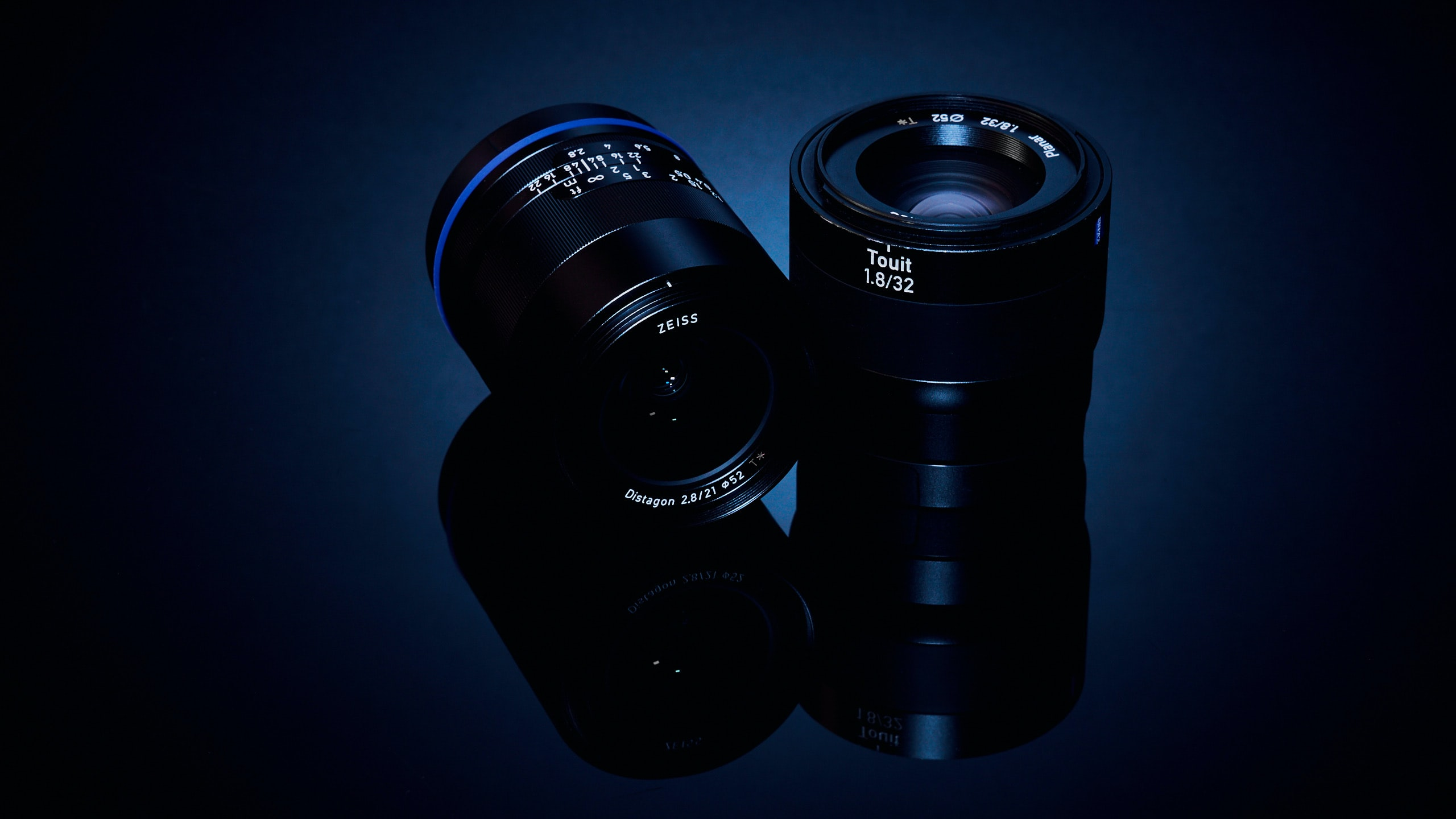 two black telephoto lens