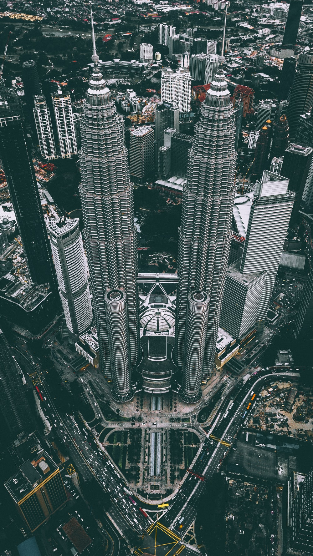 aerial photograph of Petronas Twin Tower, Malaysia