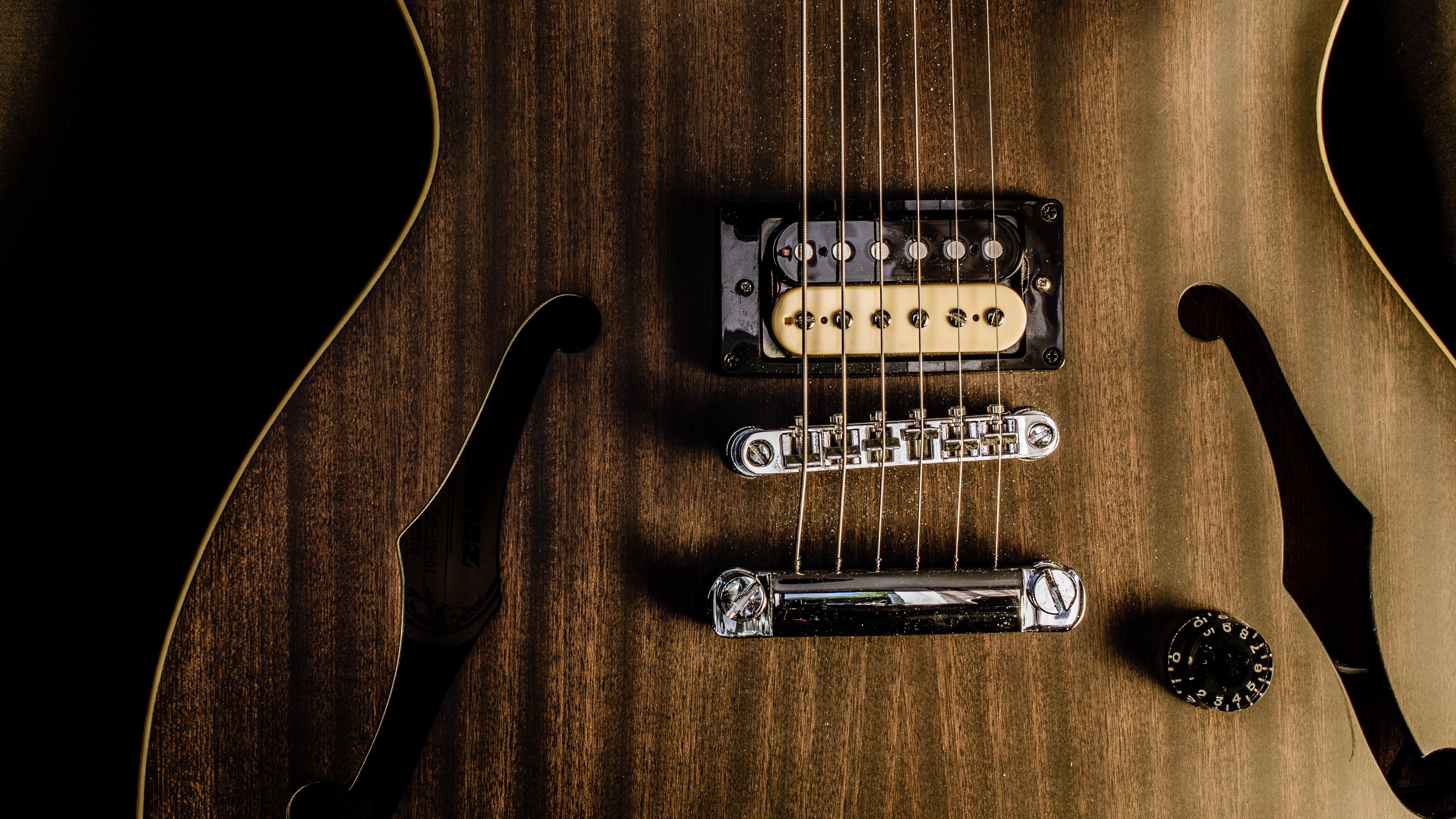 brown jazz guitar