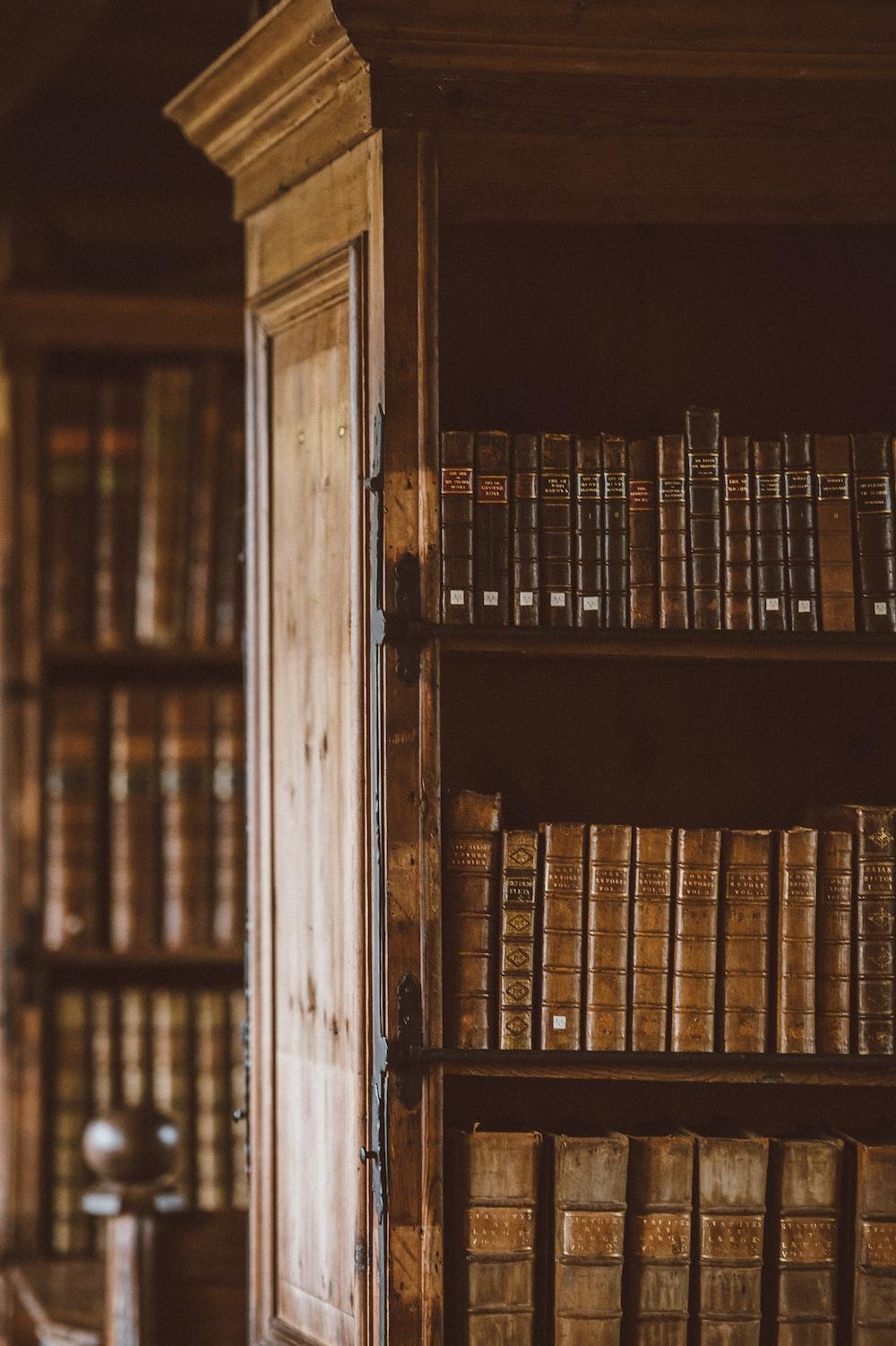 books in bookshelves