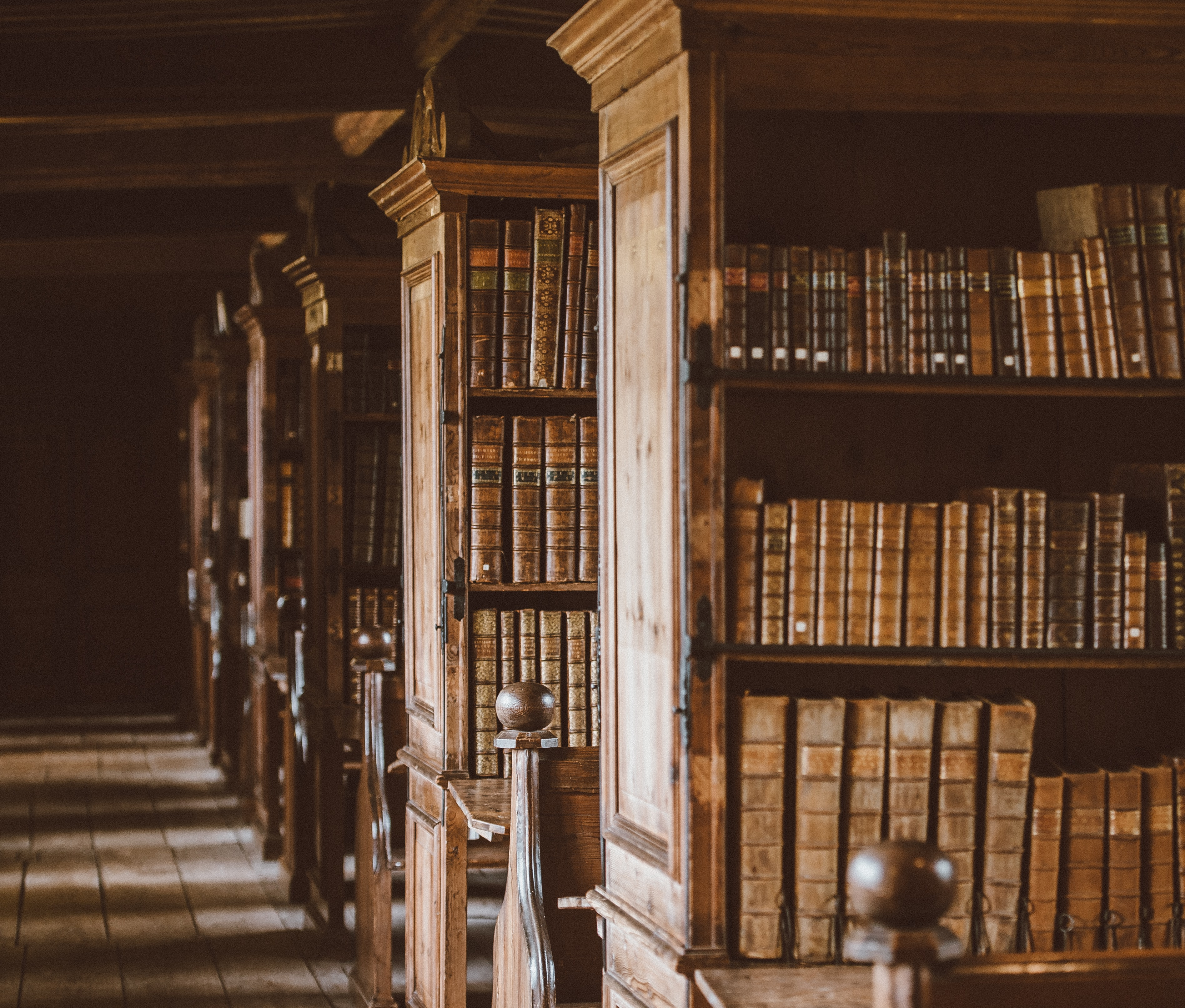photo of library shelves