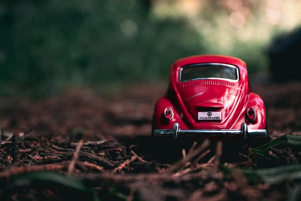 red Volkswagen Beetle miniature