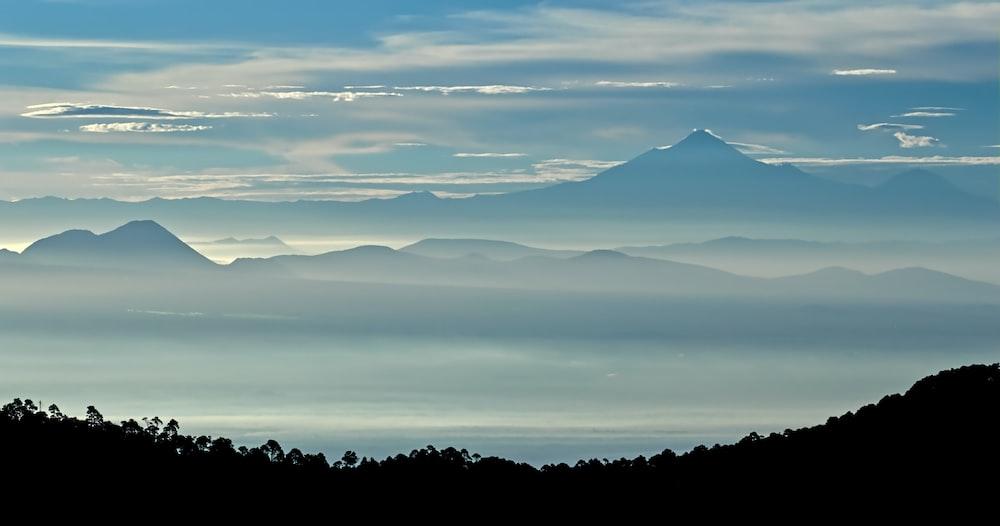 fog on mountains
