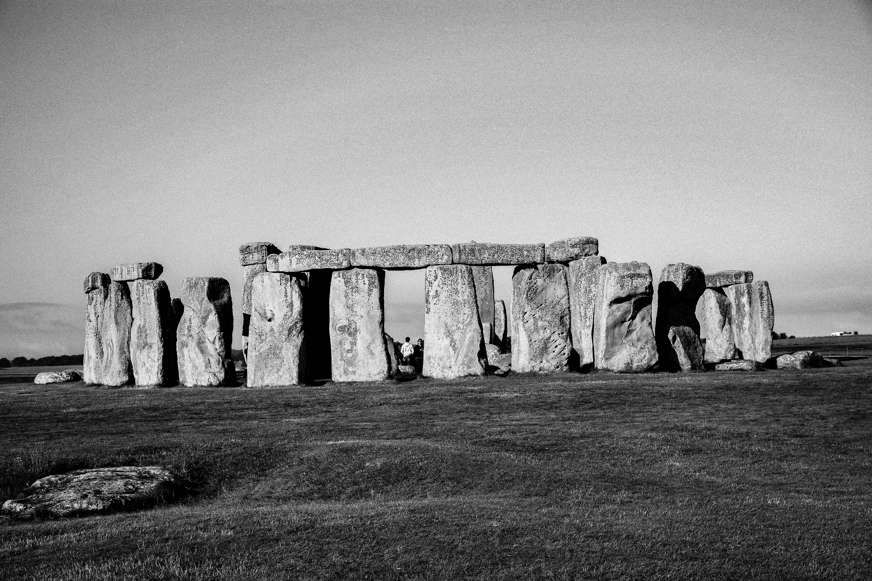 grayscale photography of Stonehenge in Washington