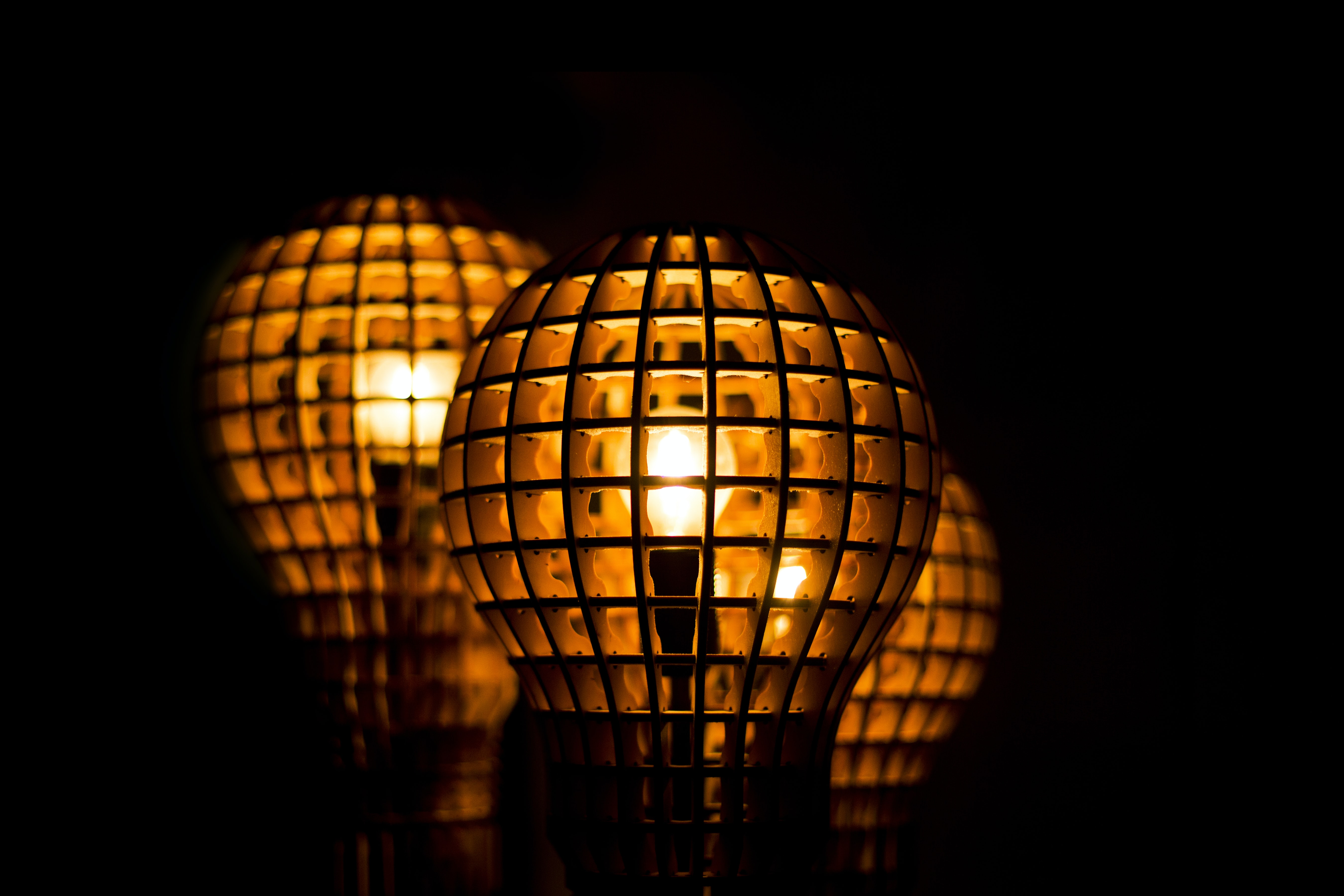 selective focus photography of lit lantern