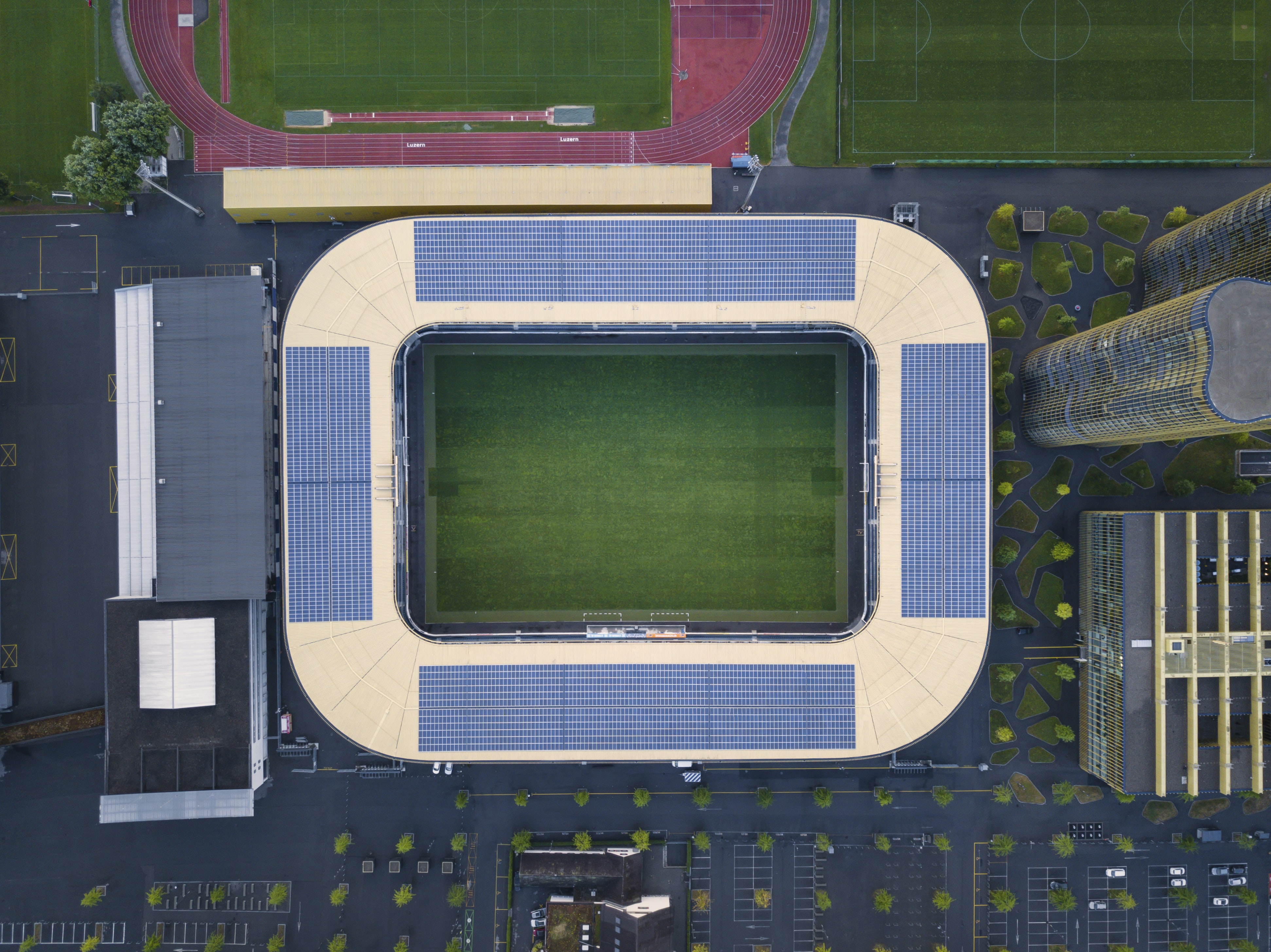areal view of stadium