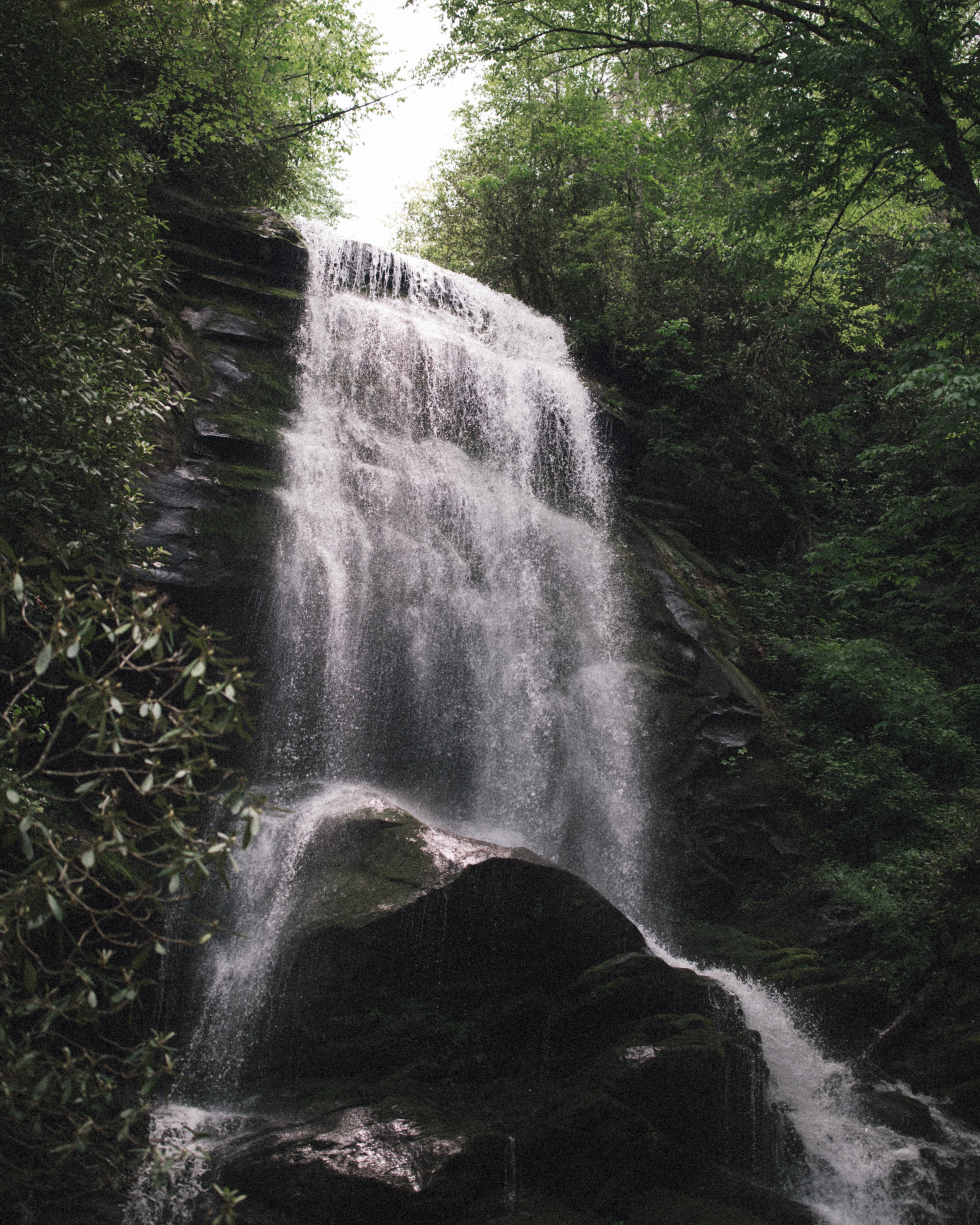 water falling above