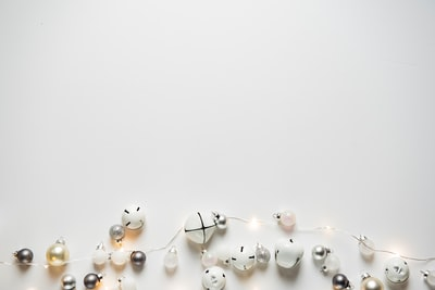 beaded of white string light holiday zoom background
