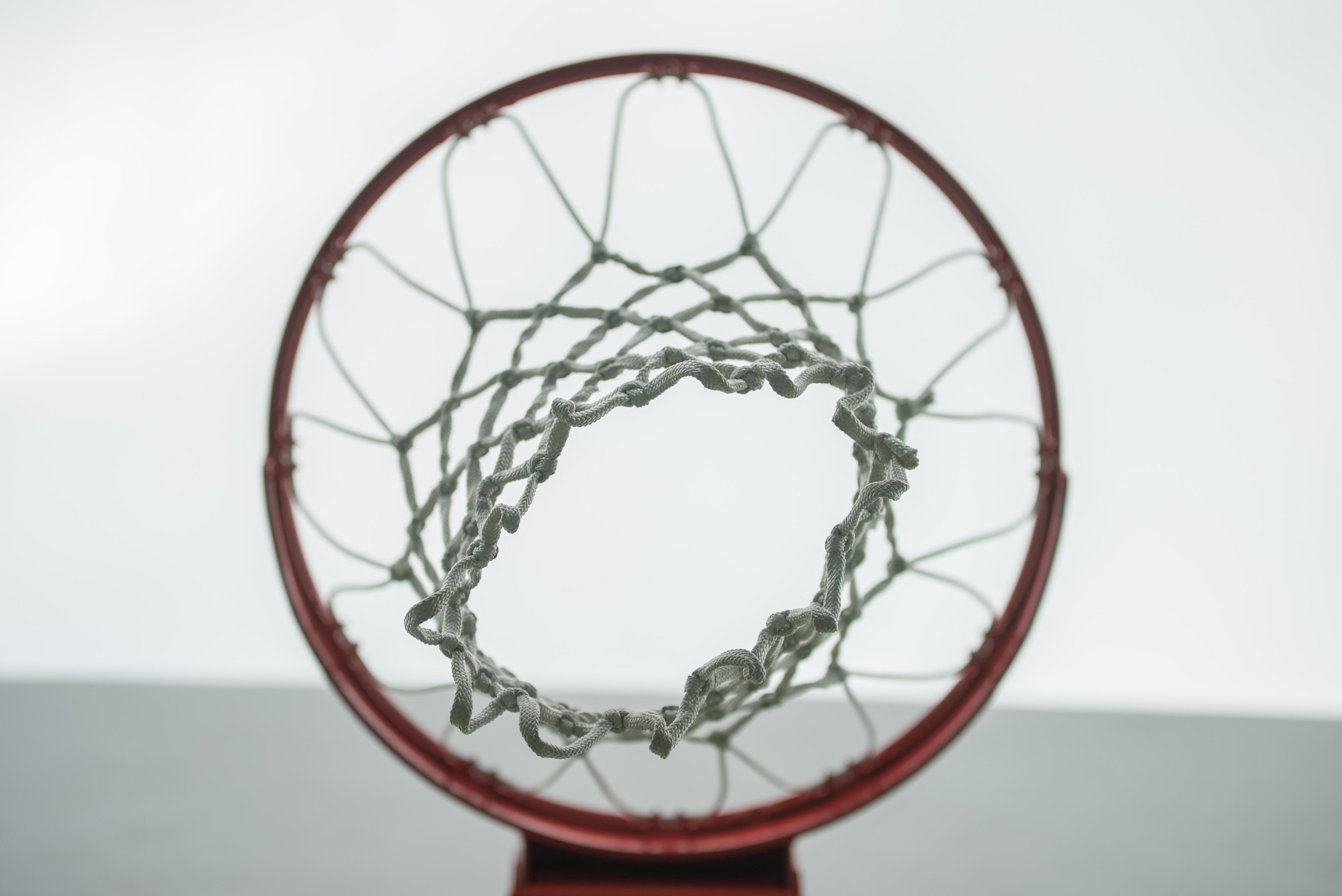 low angle photo of basketball hoop