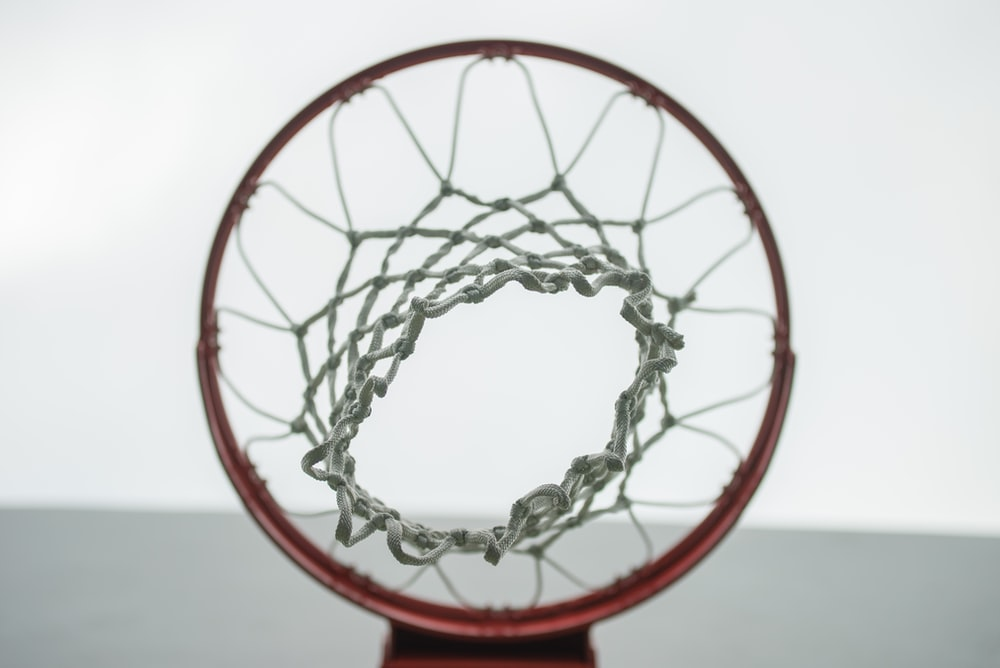 low angle photo of basketball hoop