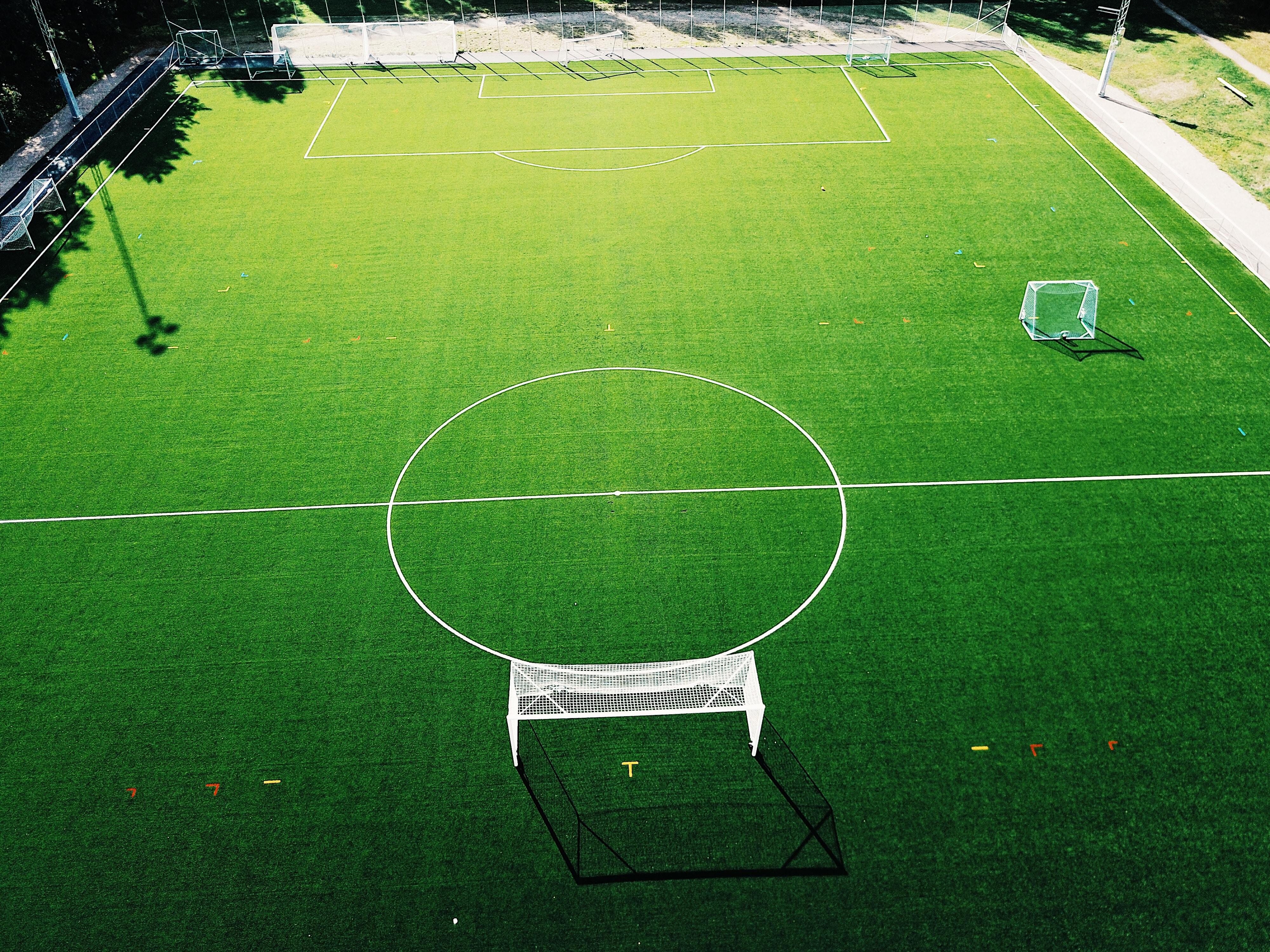 landscape photography of soccer field