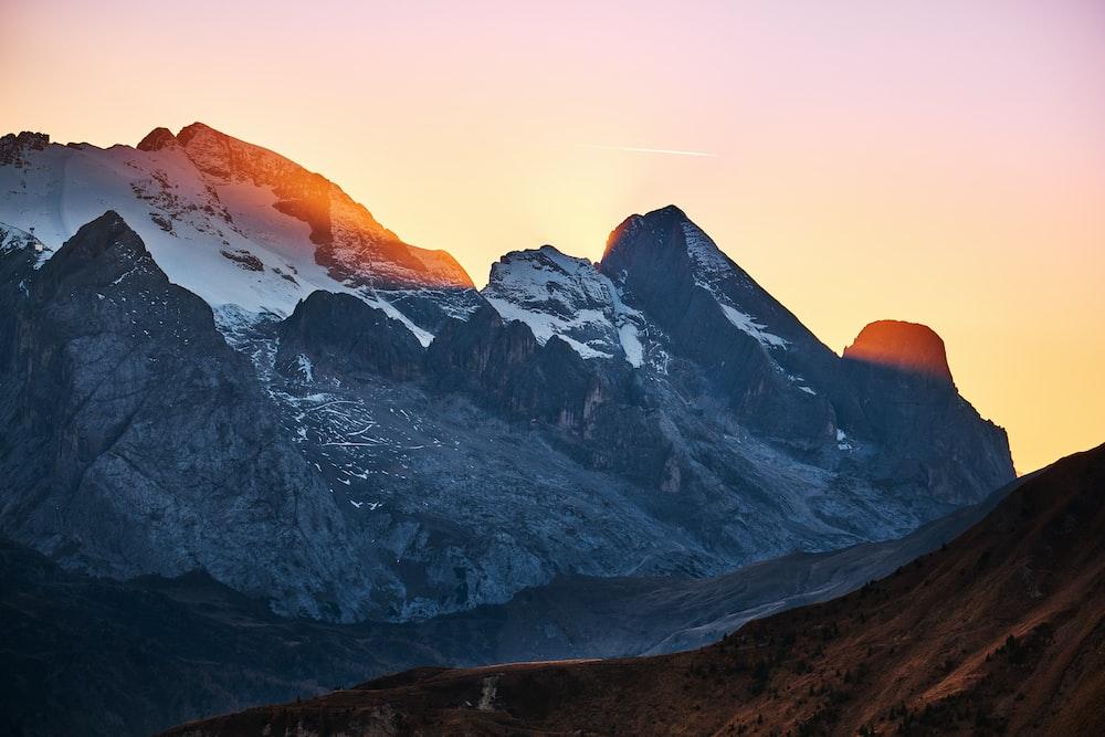 sunlight through alp mountain