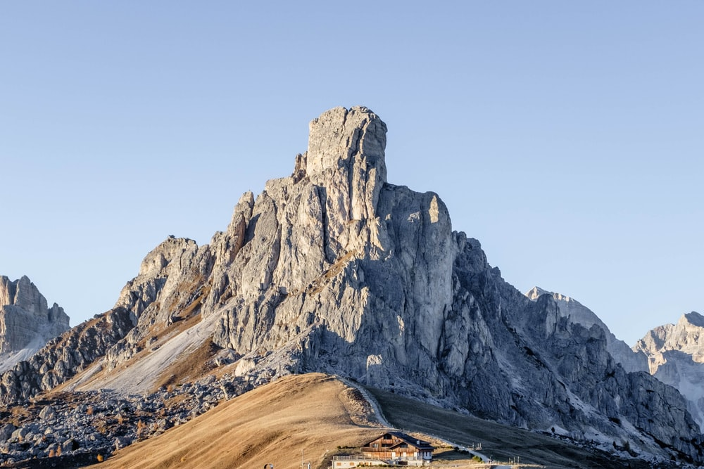landscaped photo of a mountain