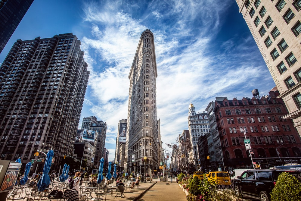 Flatiron building during day