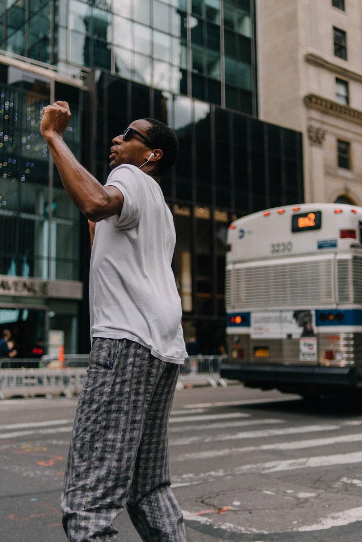 man dancing on the street