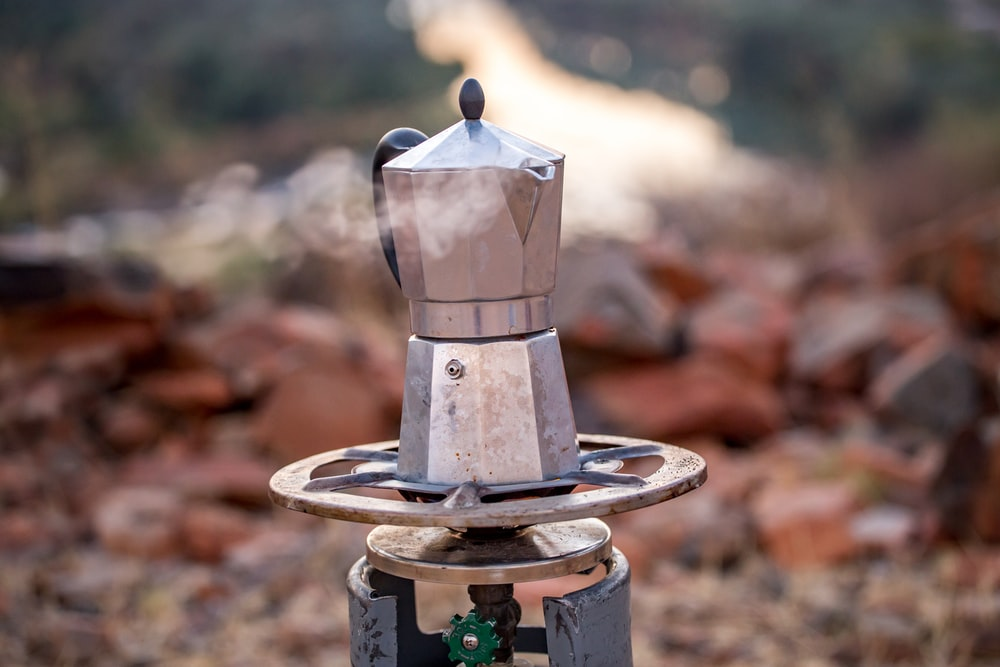 moka pot on propane stove