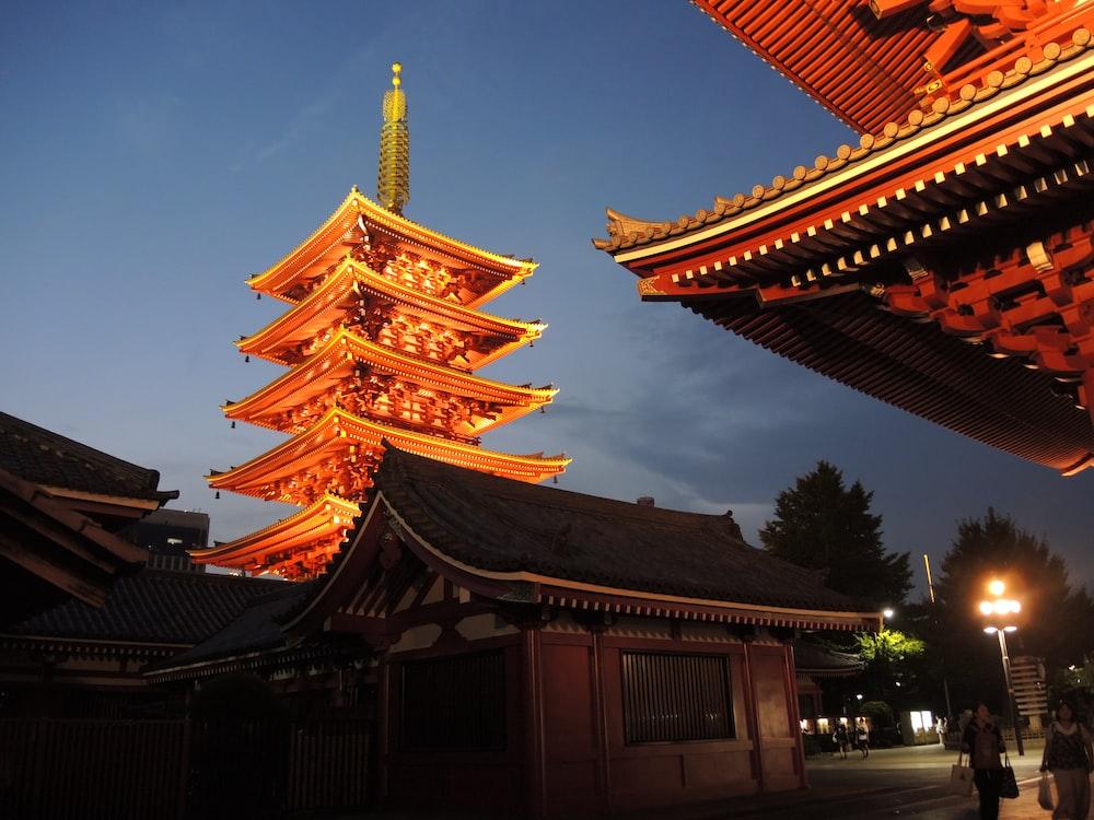 yellow pagoda