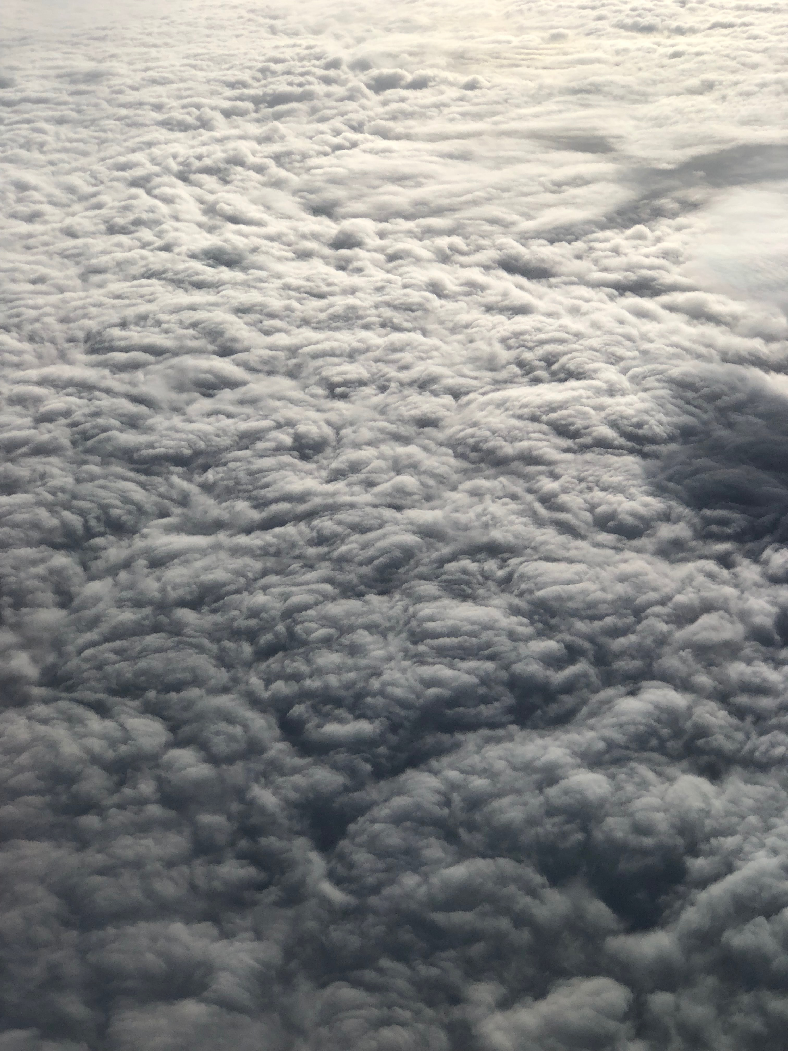 aerial photo of a nimbus clouds