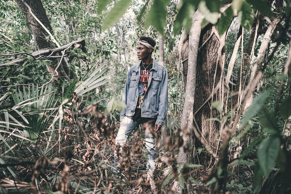 man in the jungle