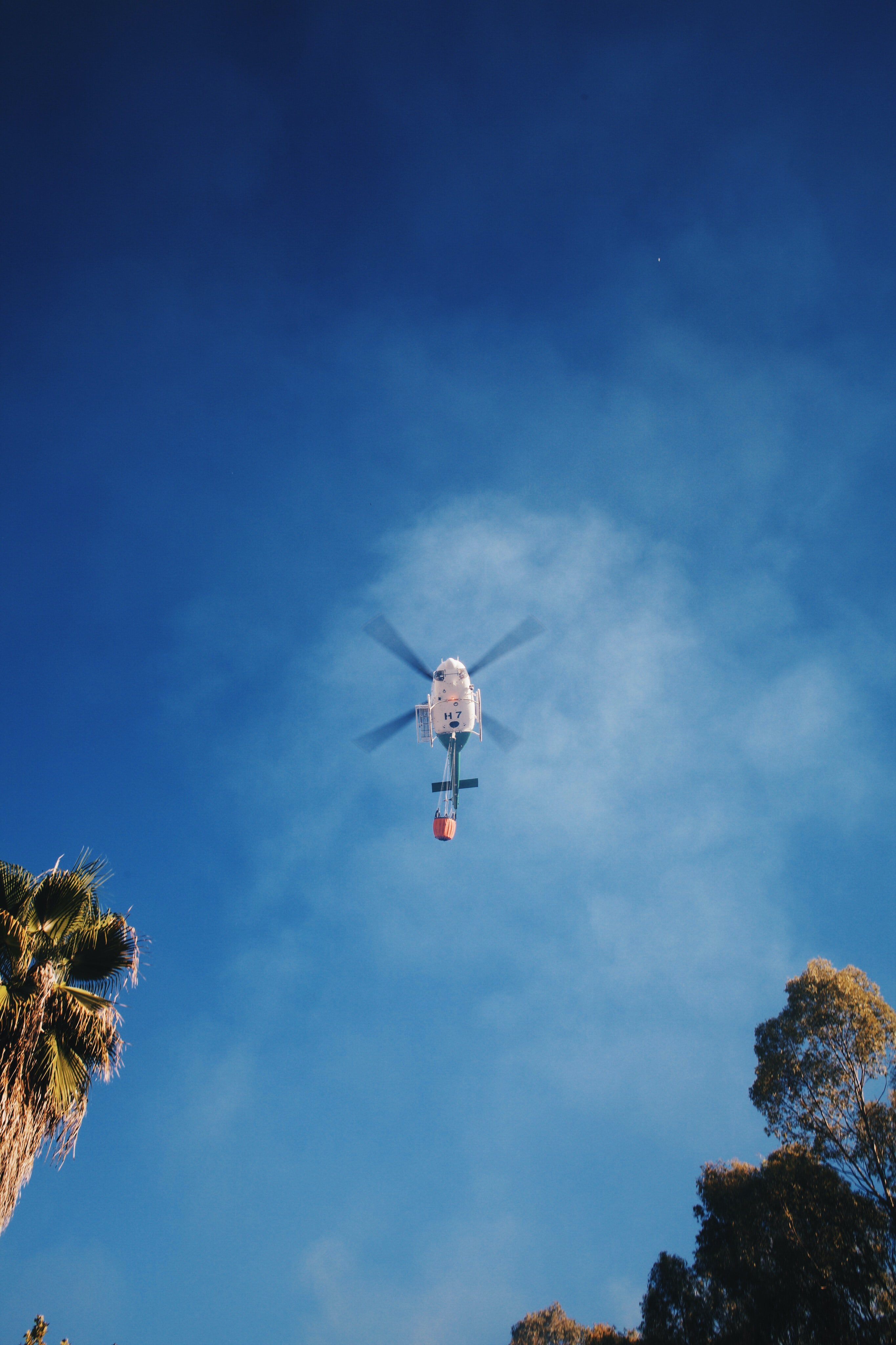 low angle photography of helicopter