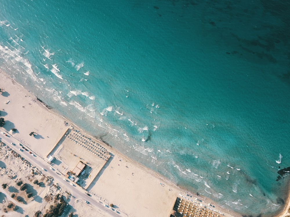 areal view of beach