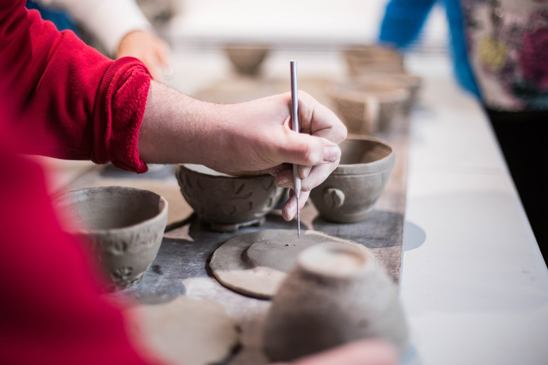 Doing a pottery class. We made some cups and saucers.