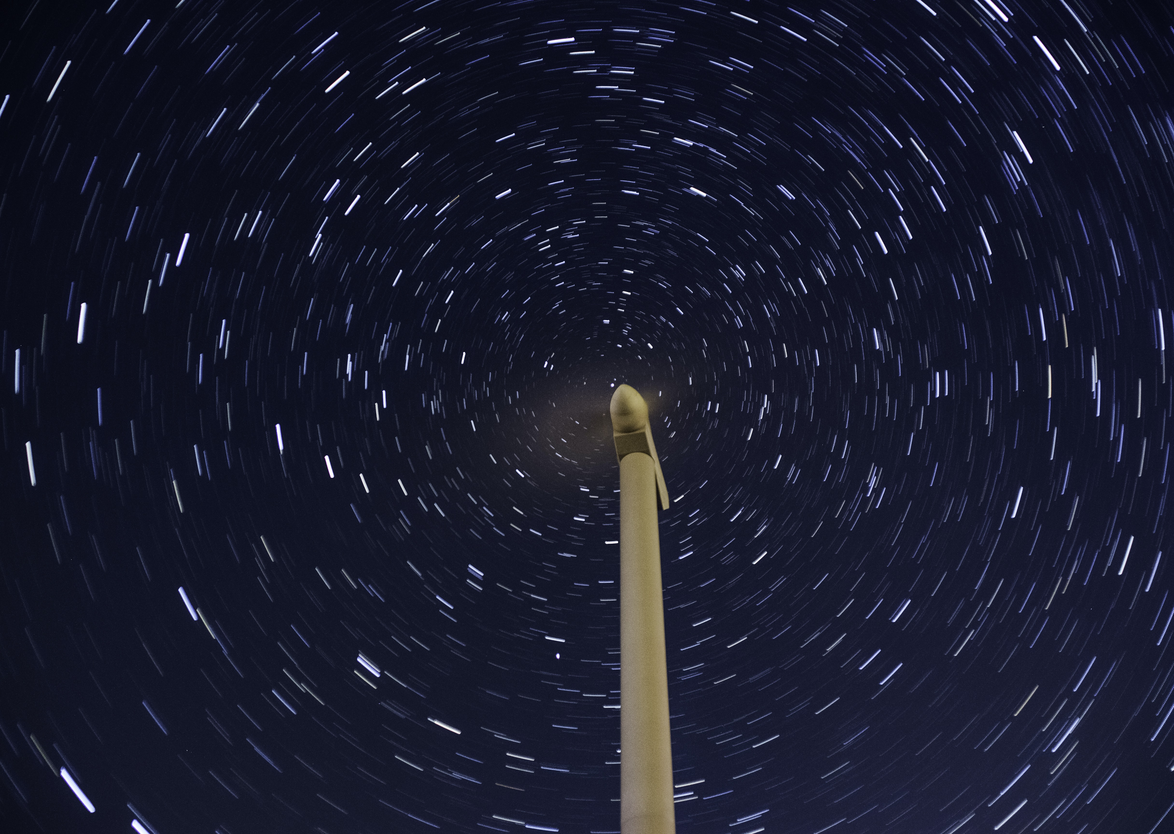 time-laps of stars and light post