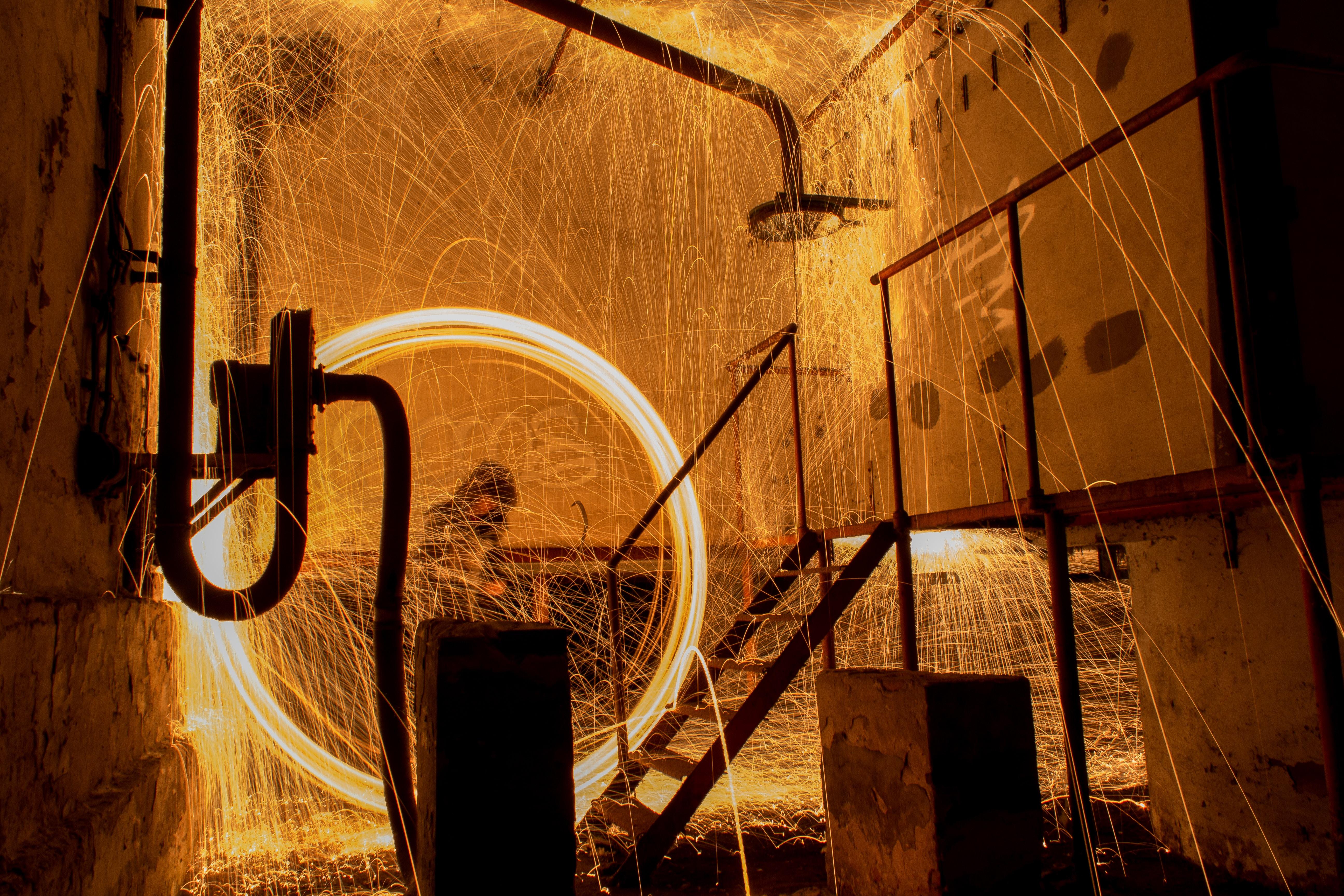 wheel fire dancing