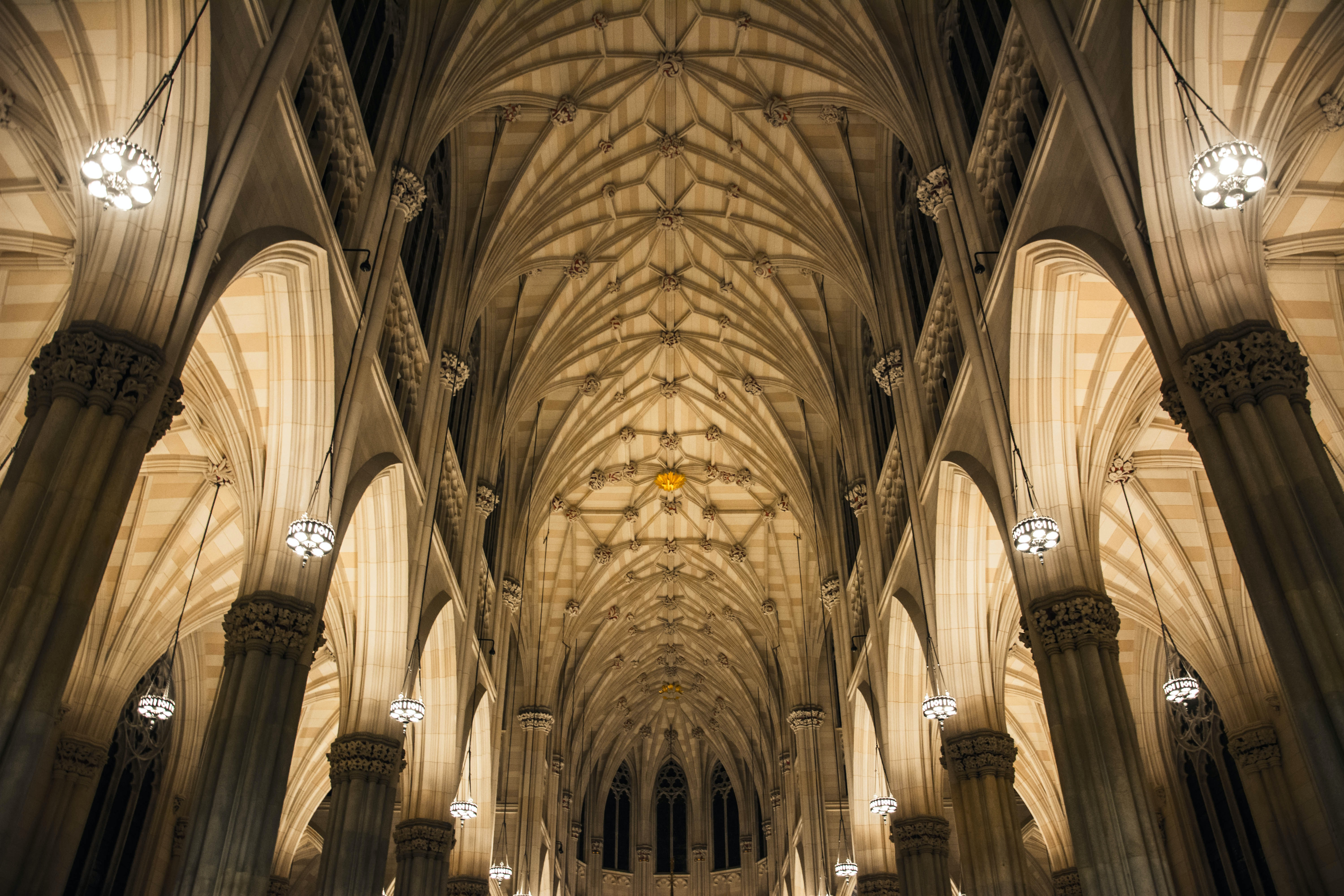 landscape photography of gothic structure interior