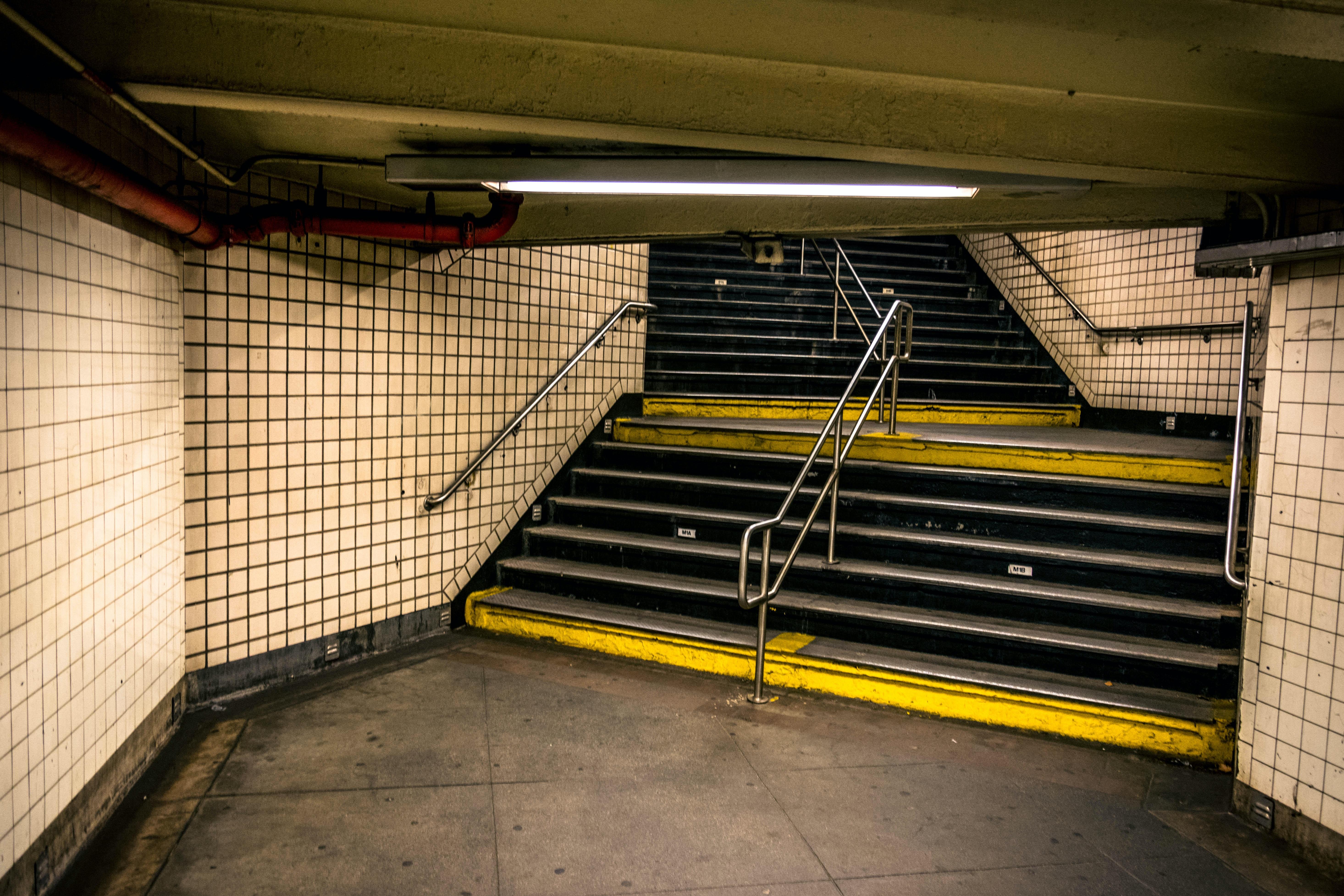 subway stair wallpaper