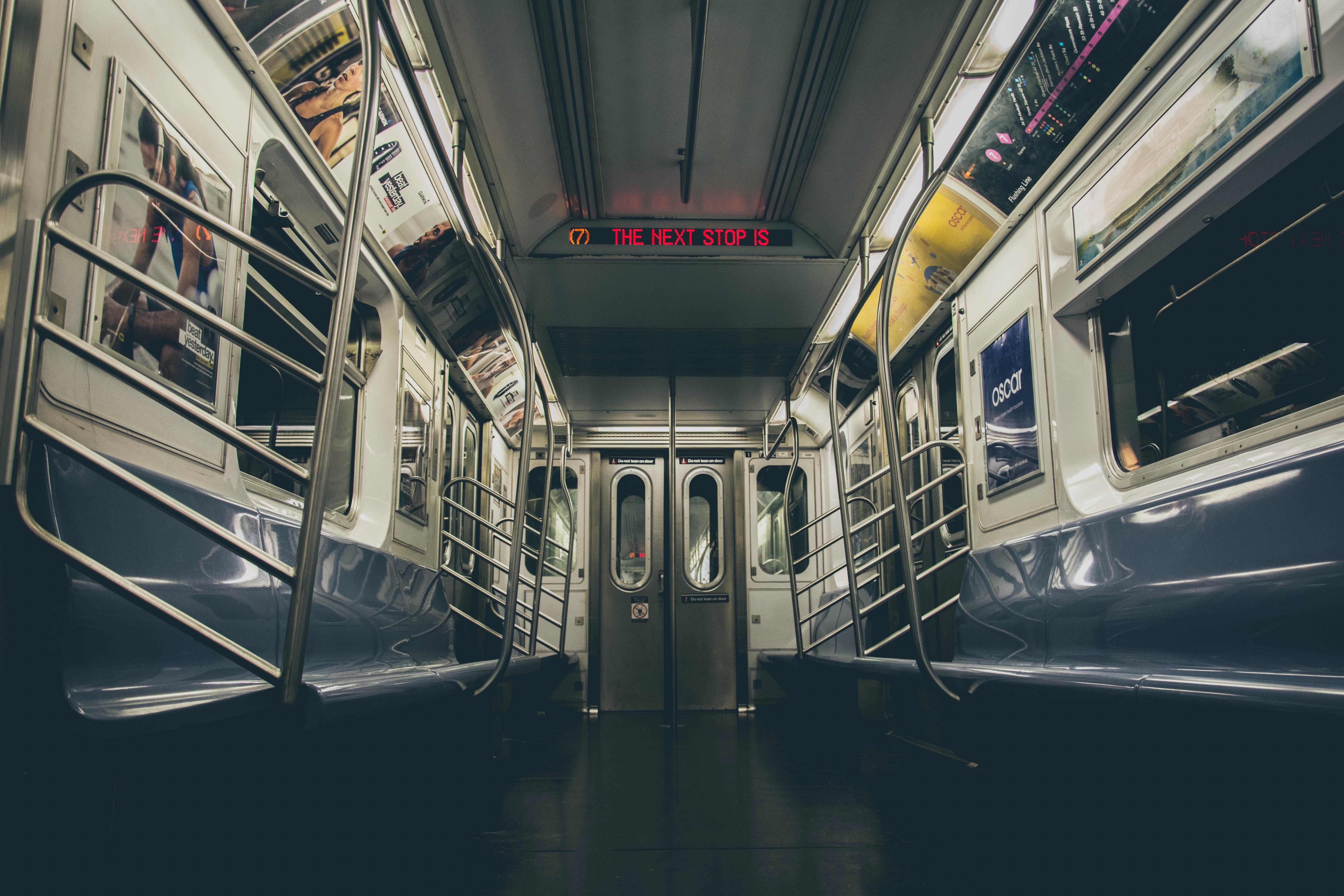 public transport train interior
