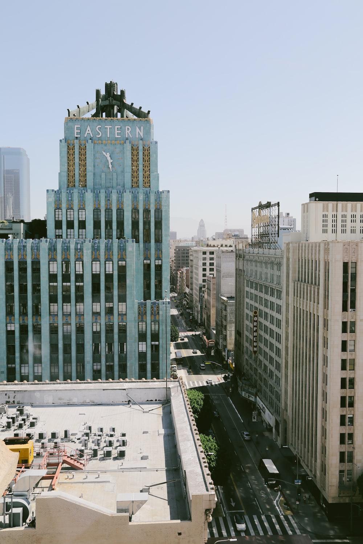 birds eye view of buildings