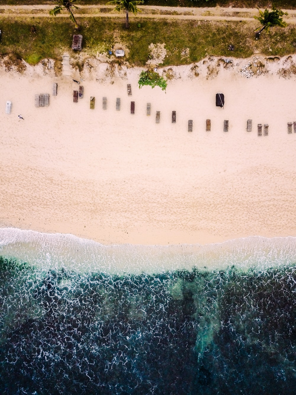 aerial view photography of seashore