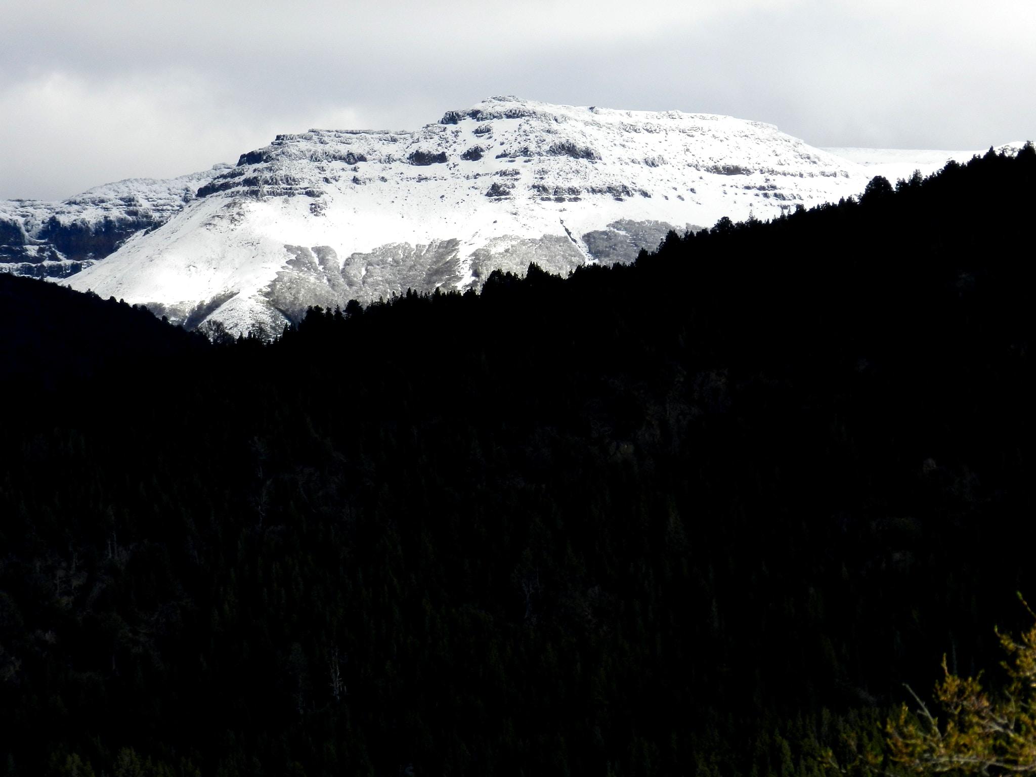 cloudy sky over alp mountain