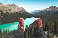 aerial photography of Peyto Lake, Canada
