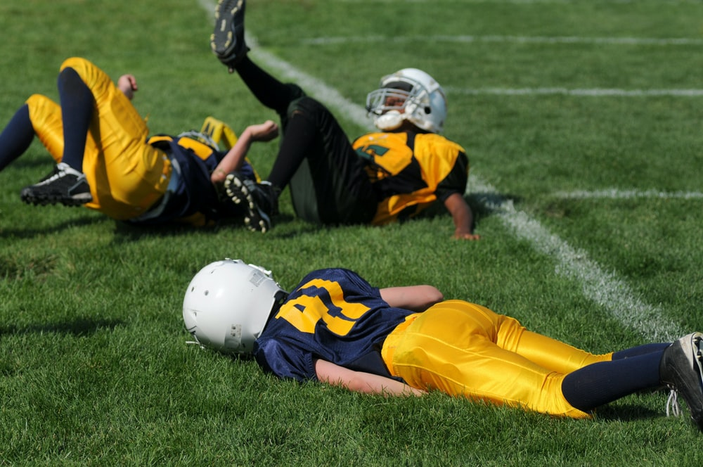 player lying on field
