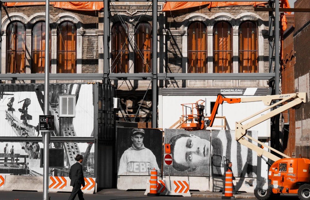 white and orange heavy equipment