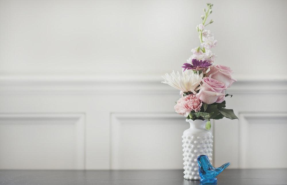 pink rose flower in vase