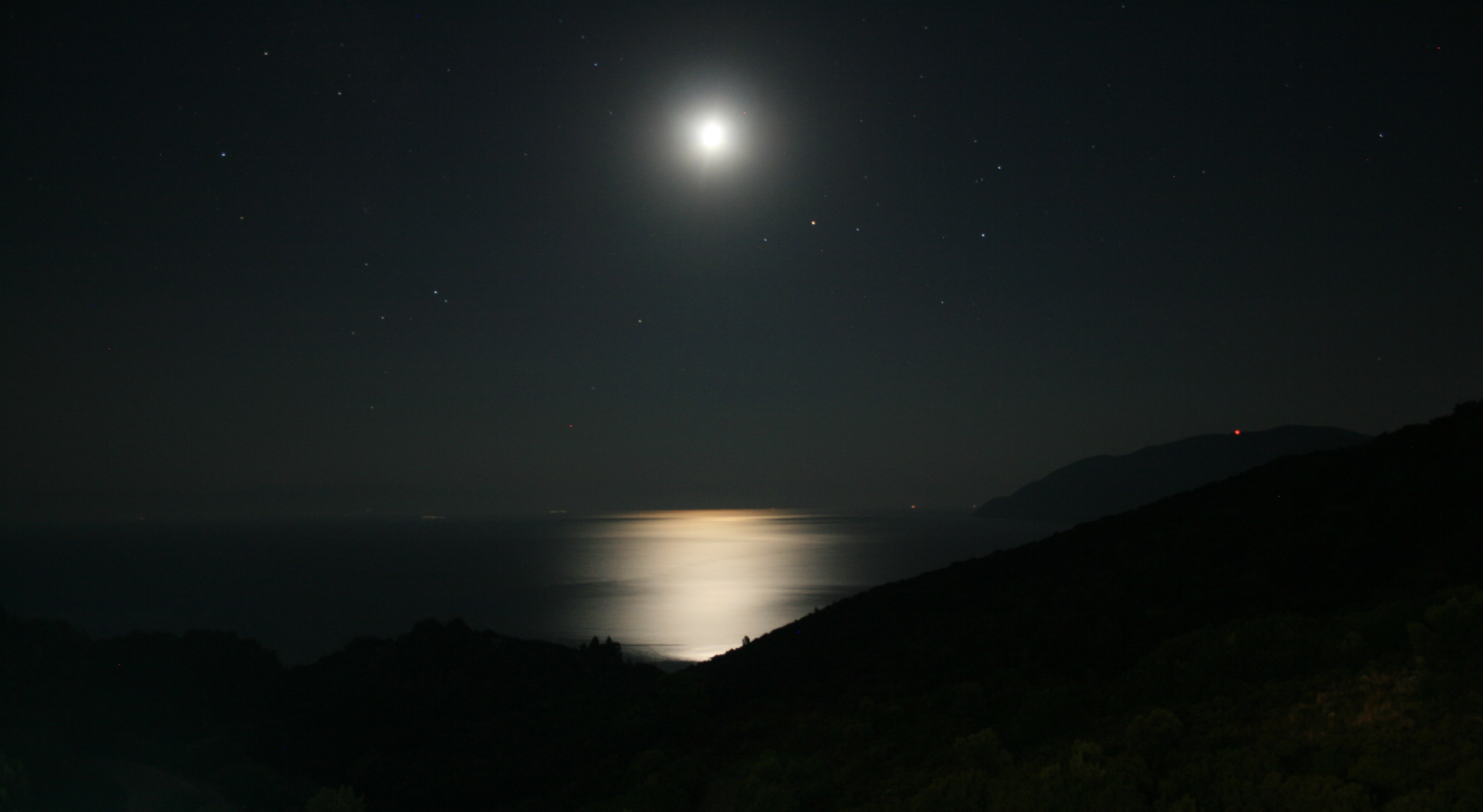 landscape photography of full moon