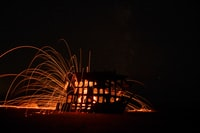 timelapsed photo of lighted house