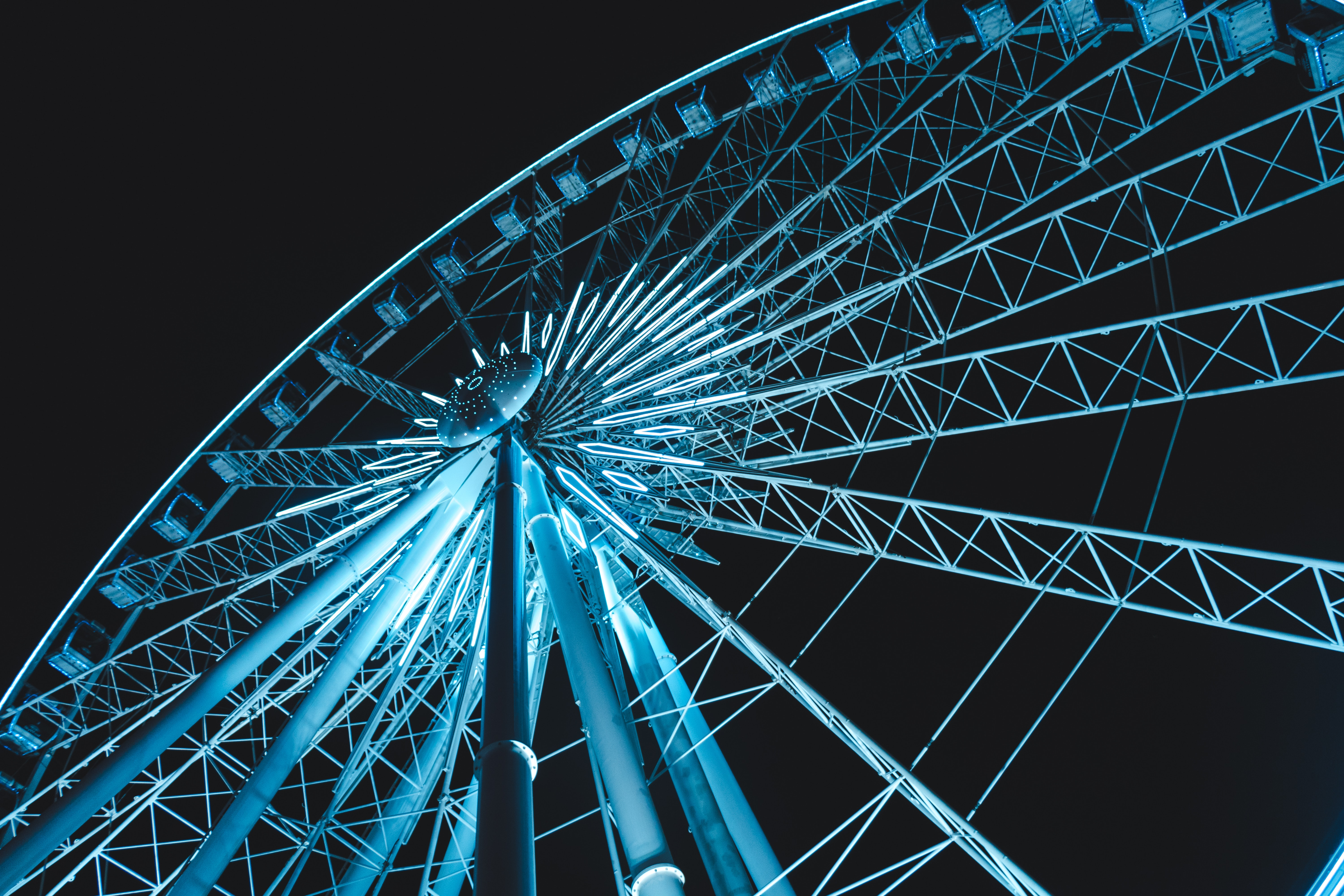 low angle photography of ferries wheel