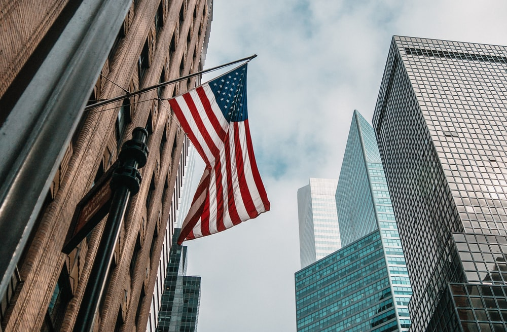 low angle photo of flag of U.S.A