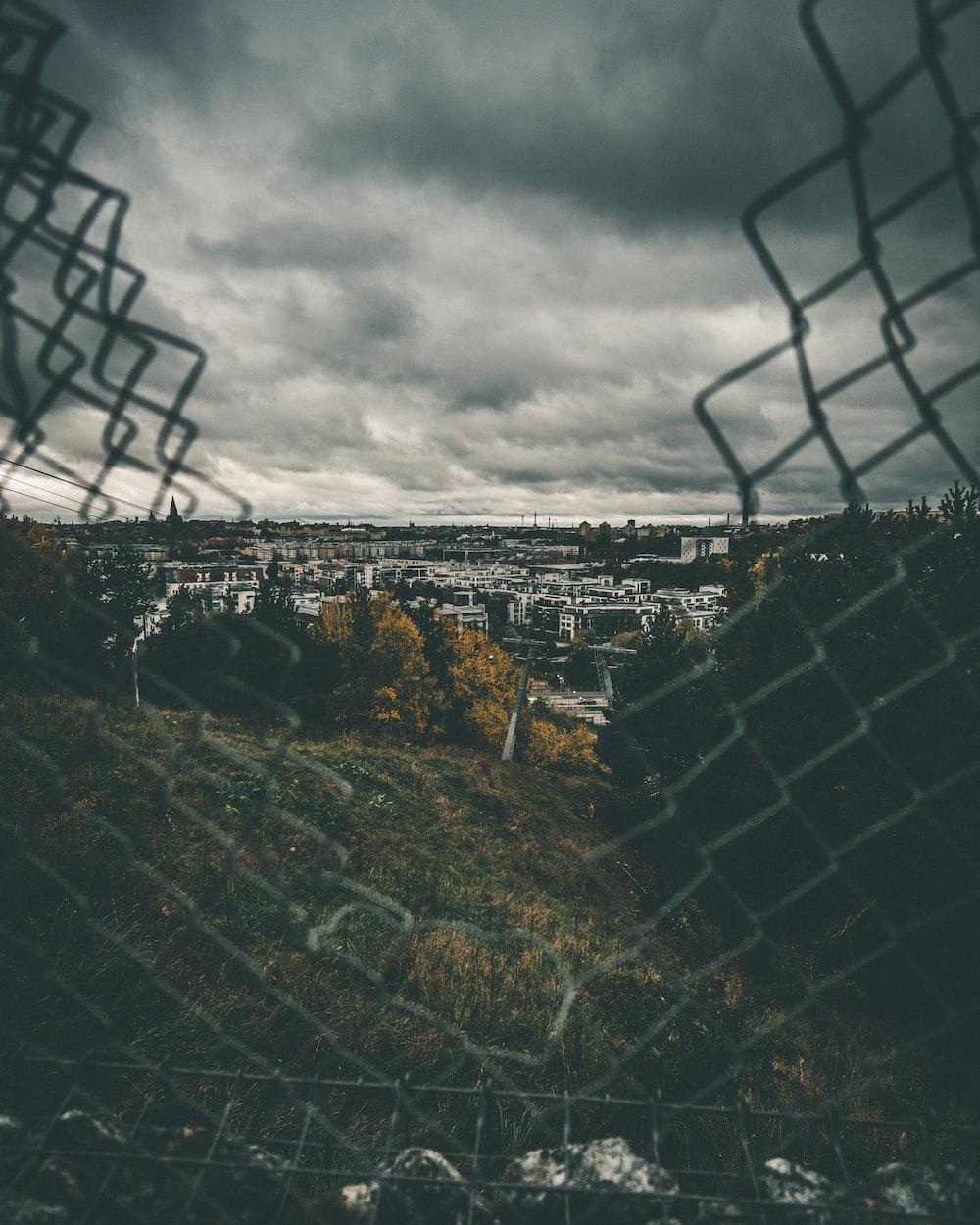 broken cyclone fence
