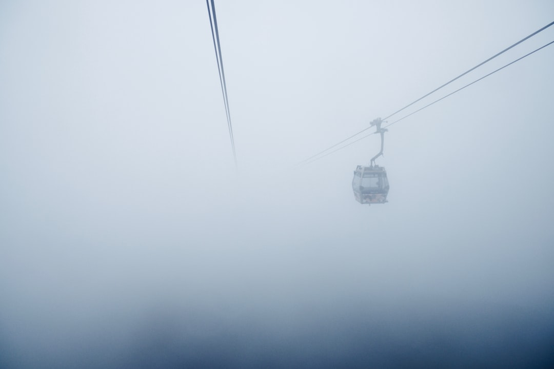Took an eerie cable car ride through the fog up to the Tian Tan Buddha in Hong Kong.